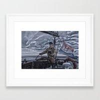 sailor Framed Art Prints featuring Sailor  by Guna Andersone & Mario Raats - G&M Studi