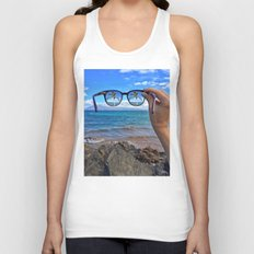 Hawaii Sunglasses Palmtrees Unisex Tank Top