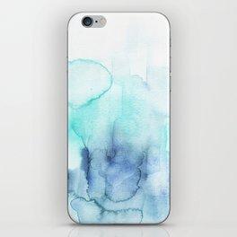 Wanderlust Teal Blue Watercolor iPhone Skin