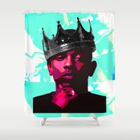 kendrick lamar Shower Curtains featuring King Kunta by Grace Teaney Art