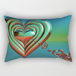 Sky High Hearts Rectangular Pillow