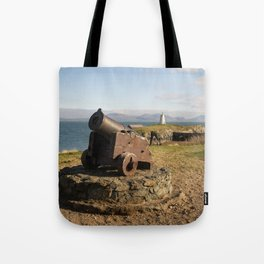 Cannon On Llanddwyn Island Tote Bag