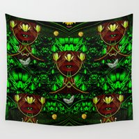 leather Wall Tapestries featuring Leather Heads by Pepita Selles