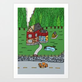 Wooden House Art Print