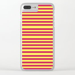 Stipes Yellow Pink Clear iPhone Case