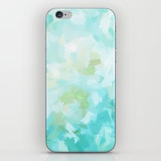 BLOSSOMS - CYAN iPhone & iPod Skin