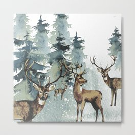 Winterly Forest Metal Print