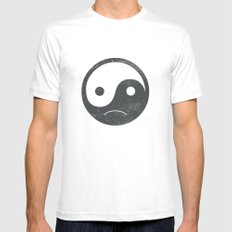 yin yang smiley ;-( White Mens Fitted Tee MEDIUM