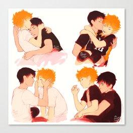 Kagehina Kisses Canvas Print