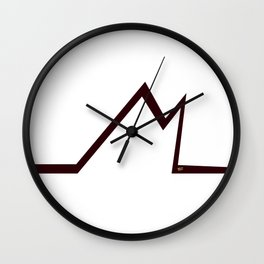 M RED LETTER #minimal #art #design #kirovair #buyart #decor #home Wall Clock