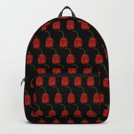 Carolina Reaper On Black Backpack