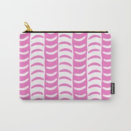 Wavy Stripes Pink Carry-All Pouch