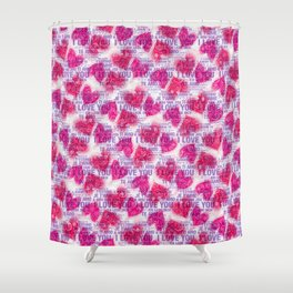 ROSES&HEARTS&LOVE Shower Curtain