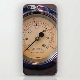 control - vintage industrial dials and gauges iPhone Skin