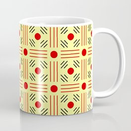 Symmetric patterns 155 yellow and red Coffee Mug