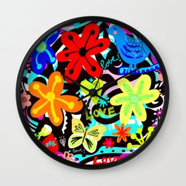 Love in Colors! Wall Clock