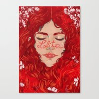 lolita Canvas Prints featuring Lolita  by Nicolae Negura