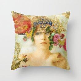 The Summer Queen Throw Pillow