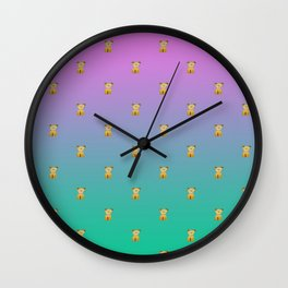 A thousand sitting dogs Wall Clock
