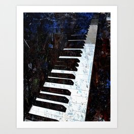 Piano Modern art Art Print