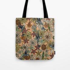 nectar bird garden peach Tote Bag