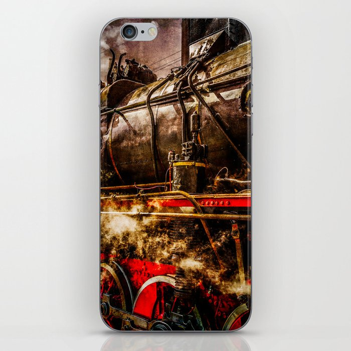 Old Train In Steam iPhone Skin