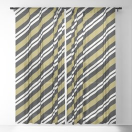 Team Color 1 ...,gold,white,black Sheer Curtain
