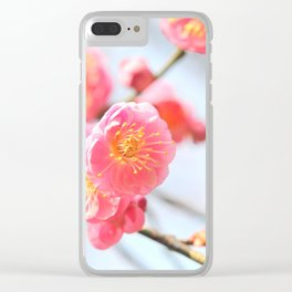 Delicate Pink & Yellow Flowers Clear iPhone Case