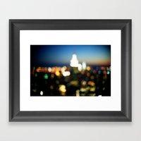 New York Lights Framed Art Print