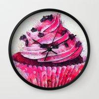 cupcake Wall Clocks featuring Cupcake by A.Aenska-Cholpanova