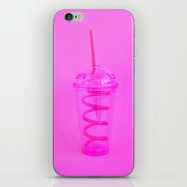Silly Straw Cup iPhone Skin