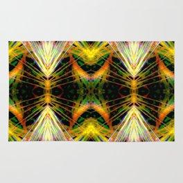 Yellow Bright Rays,Fractal Art Rug