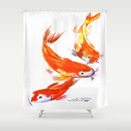 Coy Koi Shower Curtain