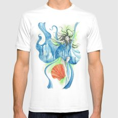 Zodiac - Aquarius MEDIUM Mens Fitted Tee White