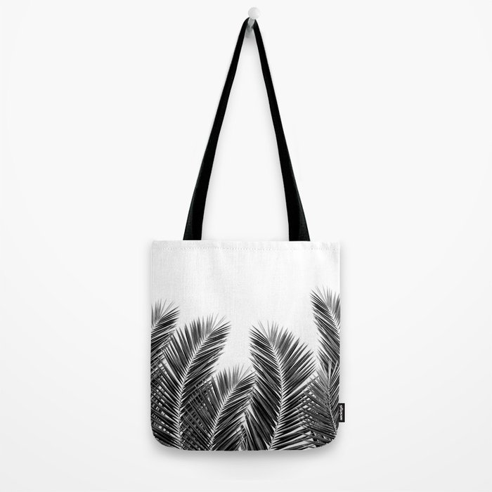 White Palm Skies Tote Bag