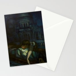 Passion, Venice Canals portrait painting by Federico Beltran Masses Stationery Cards