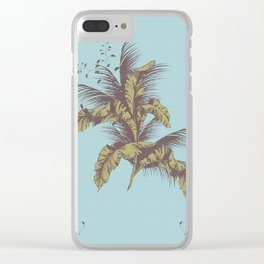 the vintage dot tropical Clear iPhone Case