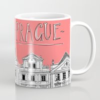 prague Mugs featuring Prague by jeune-jaune
