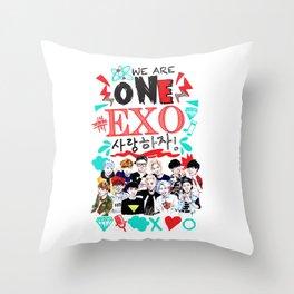 EXO WE ARE ONE! WHITE Throw Pillow