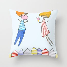 Let's go to the beach! Throw Pillow