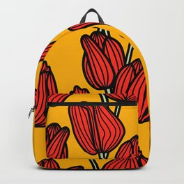 Bright Red Tulips Backpack