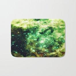 Lime Green Grass Galaxy Nebula Bath Mat