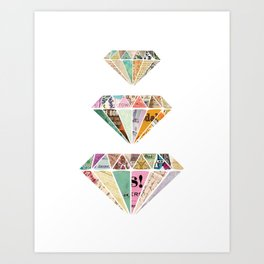 Diamonds are a Girls Best Friend Art Print