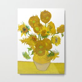 Sunflowers with a clear background Metal Print