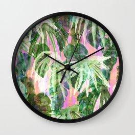 Lindsey Tropical pink Wall Clock
