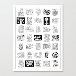 Thirty Five Dungeon Maps Canvas Print