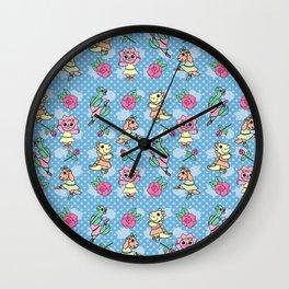 Dancing Dinos Wall Clock