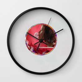 Bubble - Red Wall Clock