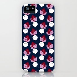 Cute white beetroots iPhone Case
