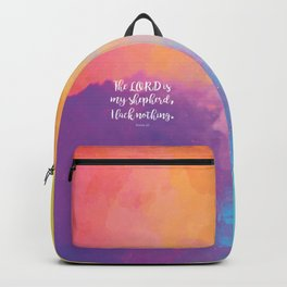 Psalm 23, The Lord is my Shepherd Bible Quote Backpack